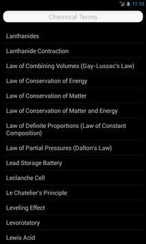 Chemistry Terms apk screenshot