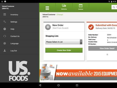 USFoods for Tablet apk screenshot
