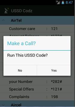 USSD Codz apk screenshot