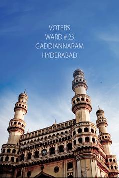 GADDIANNARAM WARD #23 VOTERS poster