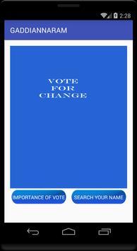 GADDIANNARAM WARD #23 VOTERS apk screenshot