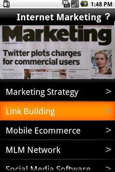 Internet Marketing poster