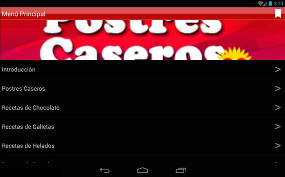 Postres Caseros 2.0 apk screenshot