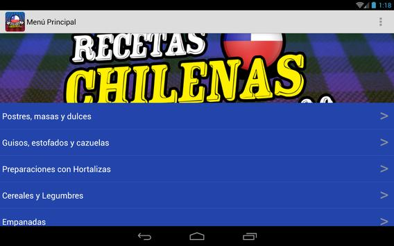 Recetas Chilenas 2.0 apk screenshot