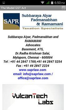 GST Model Law poster