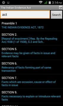 Evidence Act apk screenshot