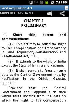 Land Acquisition Act 2013 apk screenshot