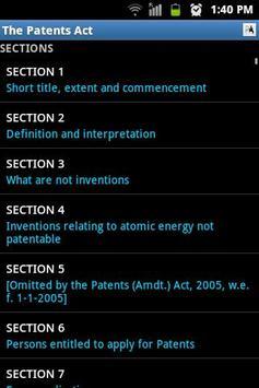 The Patents Act apk screenshot