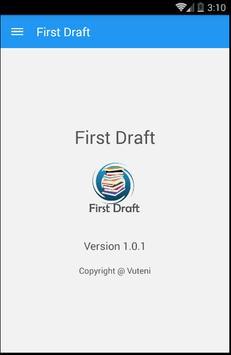 First Draft apk screenshot