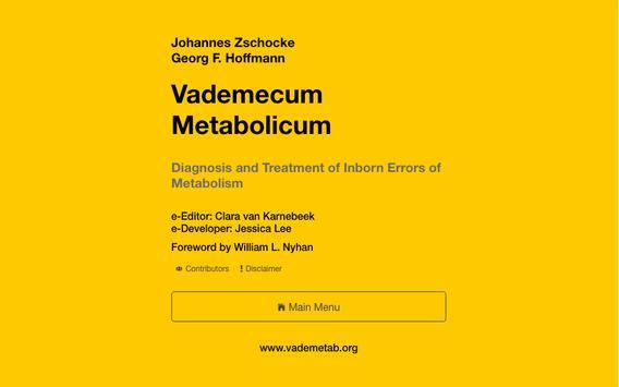 eVM - Vademecum Metabolicum apk screenshot