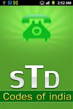 STD Code Of INDIA poster