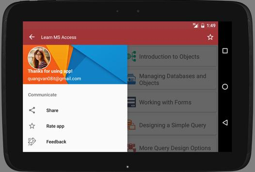 Learn MS Access offline apk screenshot