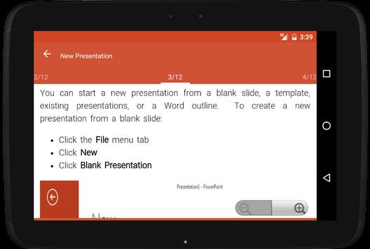Learn MS PowerPoint offline apk screenshot