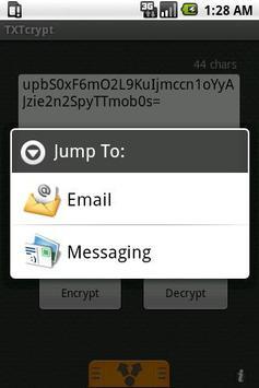 TXTcrypt apk screenshot