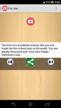 Valentines Love Messages apk screenshot