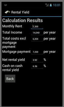 Rental Yield Calc apk screenshot