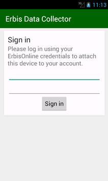Erbis Data Collector apk screenshot