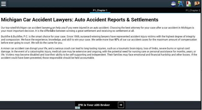 Car accident lawyer michigan apk screenshot