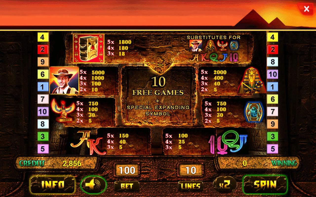 casino online mobile book of ra free games