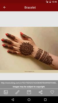 Mehndi Design Heena tattos apk screenshot