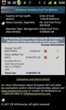 EuropeanAviationFuelTaxAdvisor apk screenshot