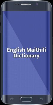 English Maithili Dictionary poster