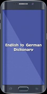English To German Dictionary poster