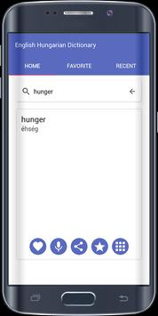 English Hungarian Dictionary apk screenshot