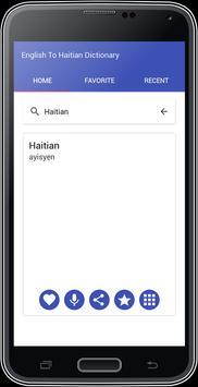 English To Haitian Dictionary apk screenshot