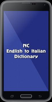 English To Italian Dictionary poster