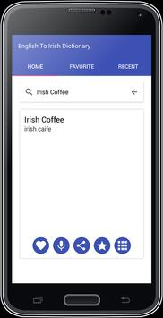 English To Irish Dictionary apk screenshot