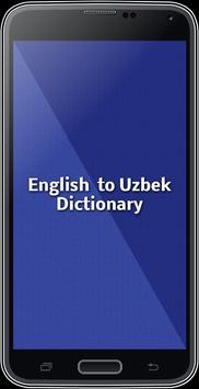 English To Uzbek Dictionary poster