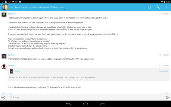 Windows Forums apk screenshot
