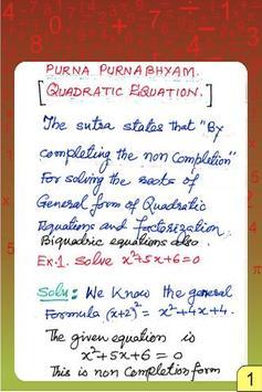 Vedic Maths - Equation - Quadr poster