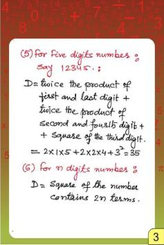 VEDIC MATHS SQUARE & ROOT TECH poster