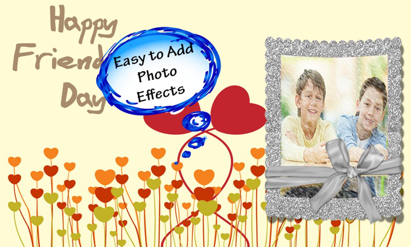 friendship photo frames poster friendship photo frames apk screenshot