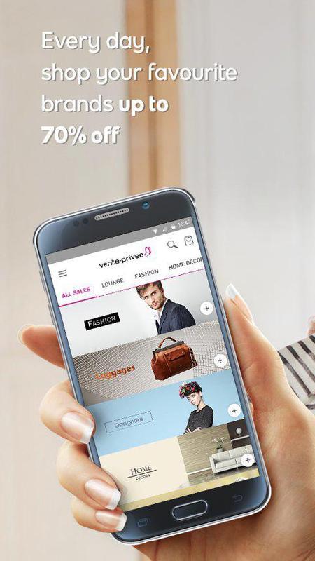 vente privee apk download free shopping app for android. Black Bedroom Furniture Sets. Home Design Ideas