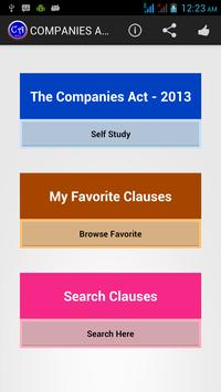 Companies Act - 2013 Ads poster