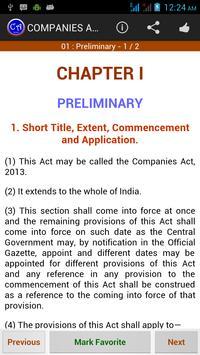 Companies Act - 2013 Ads apk screenshot