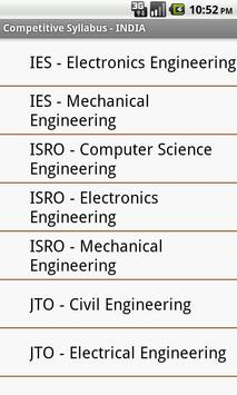 Competitive Syllabus - INDIA poster