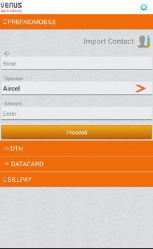 Venus EService Mobile Recharge apk screenshot