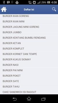 Resep Burger Dan Sandwich apk screenshot