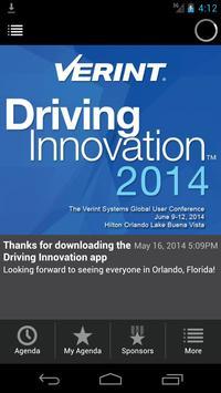 Verint Driving Innovation 2014 poster