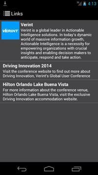 Verint Driving Innovation 2014 apk screenshot