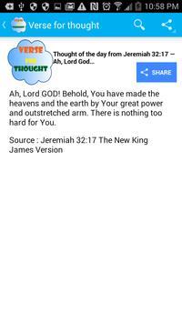 Bible Verse for Thought apk screenshot