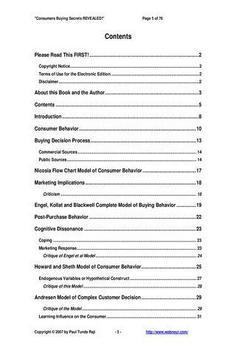Consumers Secrets REVEALED Pv apk screenshot