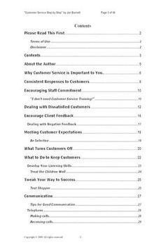 Customer Service Step by Step apk screenshot