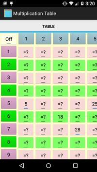 Multiplication Table Free poster