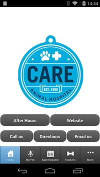 Care Animal Hospital poster