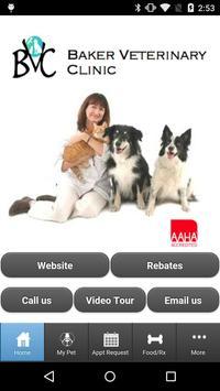 Baker Veterinary Clinic poster